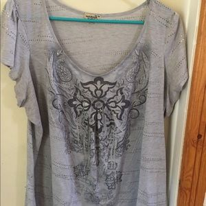 One world live and let live Tee Shirt top3x Plus